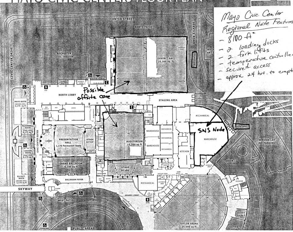 Mayo Civic Center Map