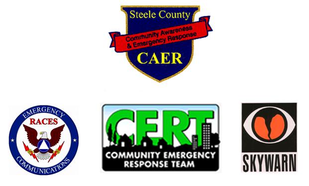 Steele County CAER, RACES, CERT, SKYWARN Logo