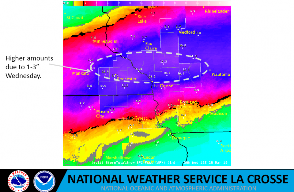 March Snow Storm Map