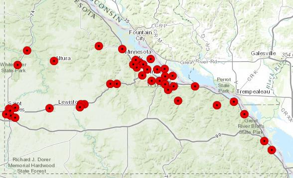 map of winona sirens