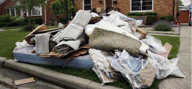 Debris from a flood