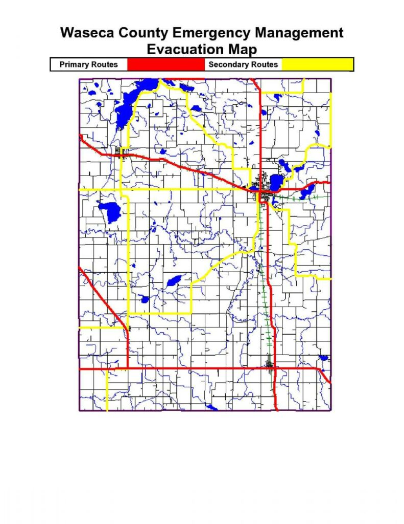 Waseca County Emergency Management Evacuation Map