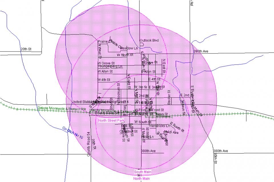 Janesville Siren Map