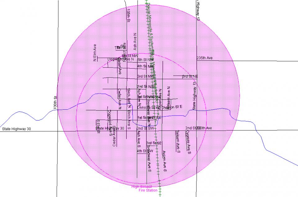 New Richland Siren Map